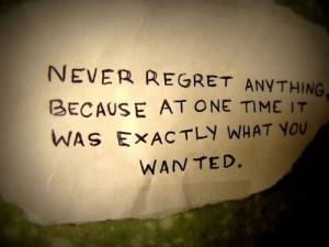 regret 1